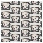 White Boxer dog Custom Fabric