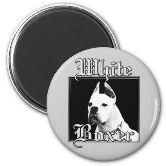 white boxer magnet