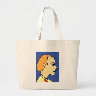 white boy1 large tote bag