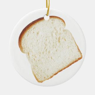 White Bread Ceramic Ornament