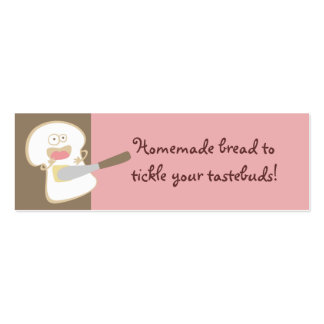 white bread tickle butter baking gift tags mini business card