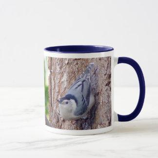 White breasted Nuthatch Bird Mug
