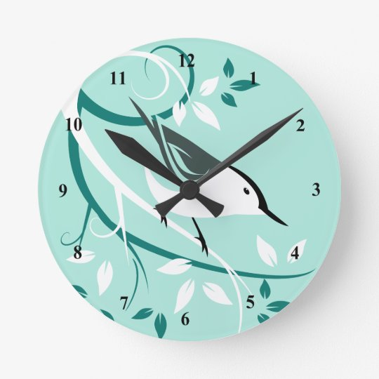 White Breasted Nuthatch Decorative Clocks