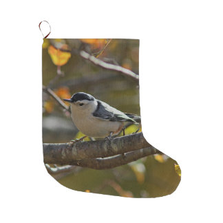White-breasted nuthatch large christmas stocking