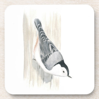 White-breasted Nuthatch Plastic Coaster