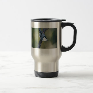 White-breasted nuthatch travel mug