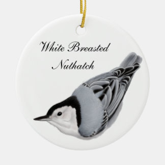 White Breasted Nuthatch Wild Bird Ornament