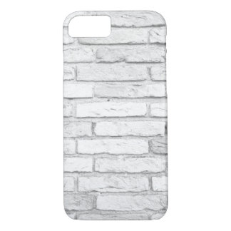 White Brick Rustic Country Farmhouse iPhone 8/7 Case