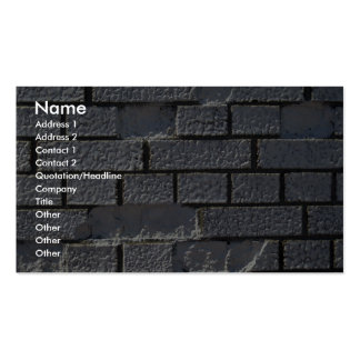 White Brick Wall Business Card Template