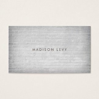 White Brick Wall Minimalist Appointment Cards