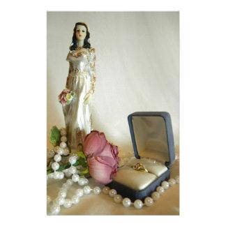 White Bridal IV Stationery Design