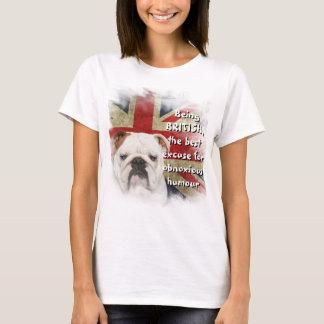 White British Bulldog Union Jack Basic t-shirt