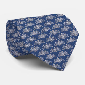 White British Coat of Arms Navy Blue Tie