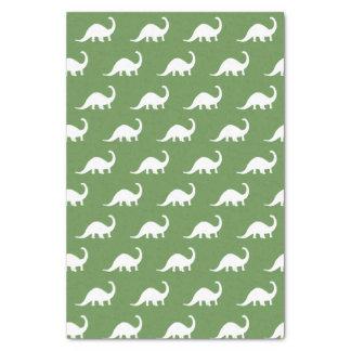 White Brontosaurus Dinosaurs Print Tissue Paper