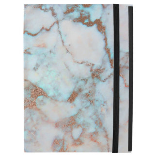 """White Brown And Blue Marble iPad Pro 12.9"""" Case"""