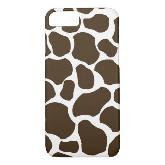 White brown giraffe spot fun stylish iPhone 7 case