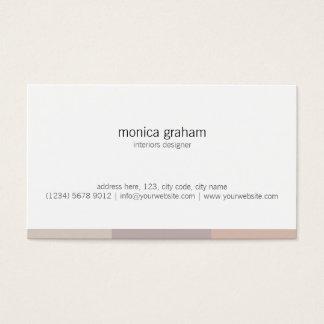 White Brown pink stripe retro minimal cute card