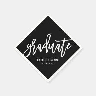White Brush EDITABLE COLOR Graduation Napkins Paper Napkin