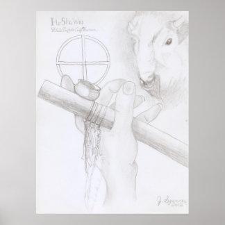 White Buffalo Calf Woman Poster