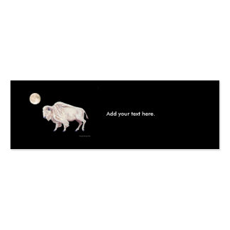 White Buffalo Full Moon Pack Of Skinny Business Cards