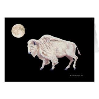 White Buffalo Full Moon Card