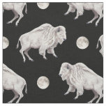 White Buffalo Full Moon Fabric