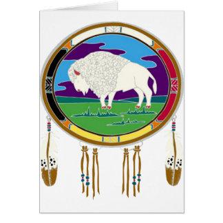 White Buffalo Native American Card