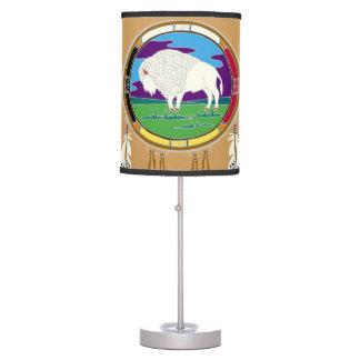 White Buffalo Native American Lamp