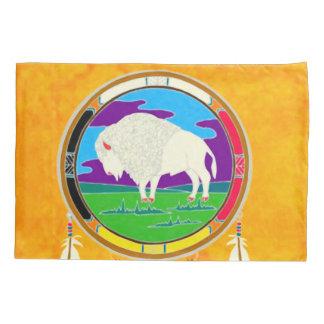 White Buffalo Native American Pillowcase