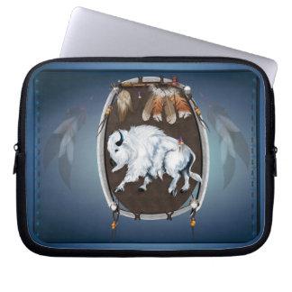 White Buffalo Shield Laptop Sleeve