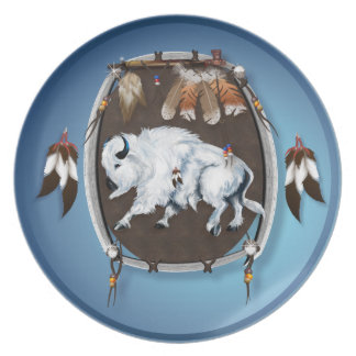 White Buffalo Shield Plate