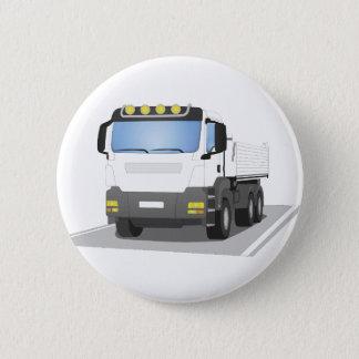 white building sites truck 2 inch round button