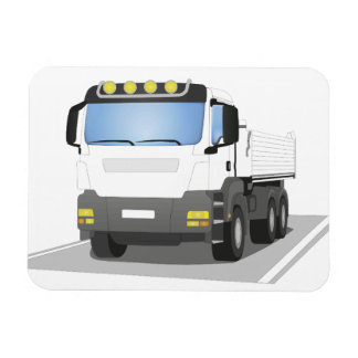 white building sites truck magnet