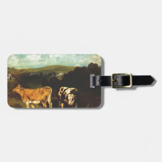 White Bull and Blond Heifer by Gustave Courbet Bag Tag