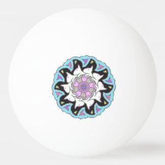 White Bull Terrier Pink/Blue Symmetrical Design Ping Pong Ball