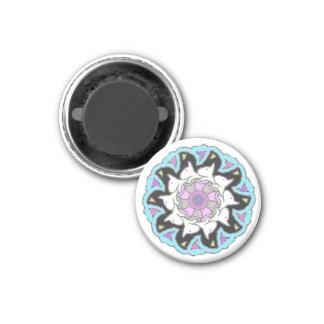 White Bull Terrier Pink/Blue Symmetrical Design Magnet