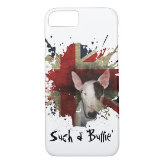 White Bull Terrier Union Jack iPhone 7 Case