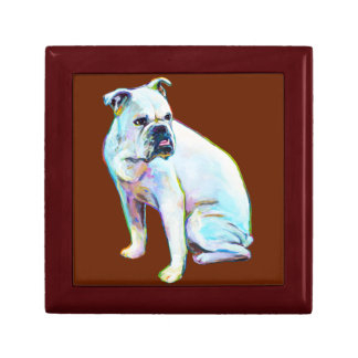 White Bulldog Gift Box