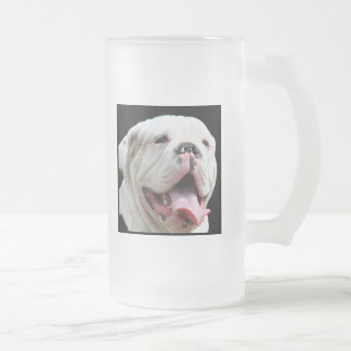 White Bulldog Mug
