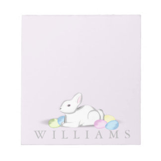 """White Bunny 5.5"""" x 6"""" Notepad - 40 pages"""