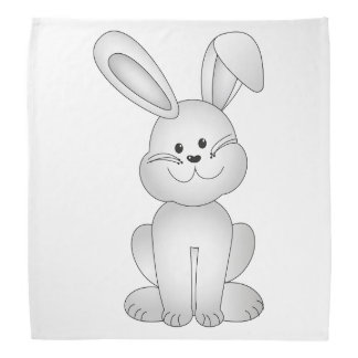 White bunny clipart bandana