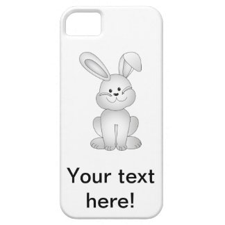 White bunny clipart case for the iPhone 5