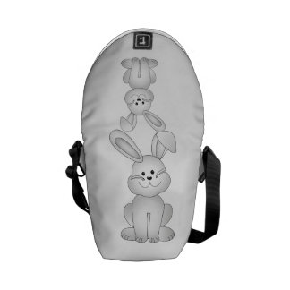 White bunny clipart courier bag