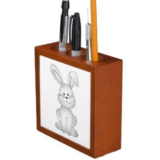 White bunny clipart desk organizer