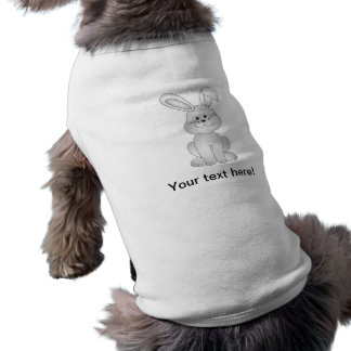 White bunny clipart doggie tee shirt