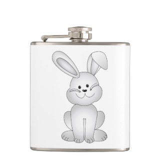 White bunny clipart flasks