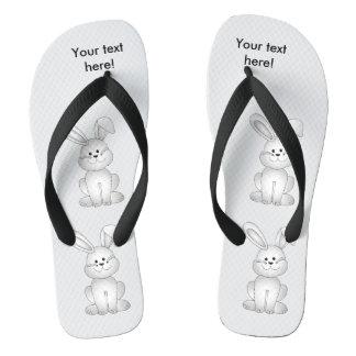 White bunny clipart flip flops