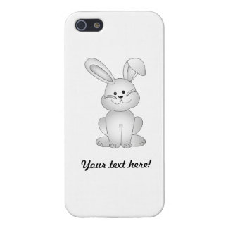 White bunny clipart iPhone 5/5S case