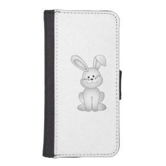 White bunny clipart iPhone SE/5/5s wallet case