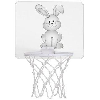 White bunny clipart mini basketball hoop